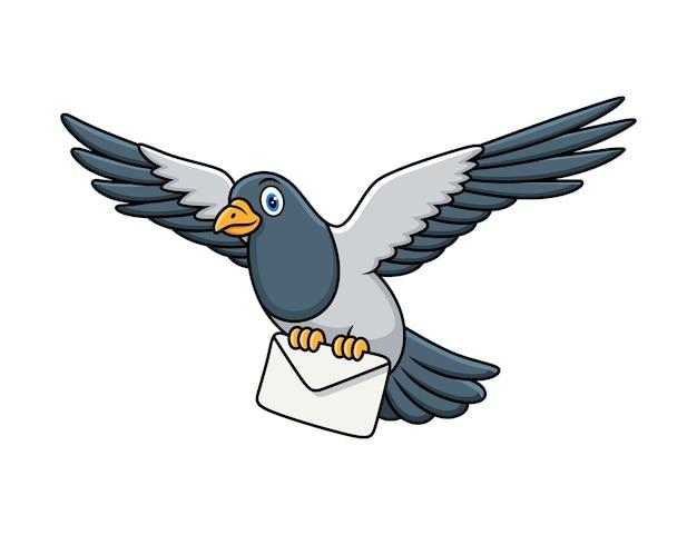メールレター漫画とかわいい鳩