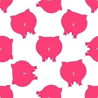 귀여운 돼지 엉덩이 완벽 한 패턴입니다. 2019 중국 설날 장식.