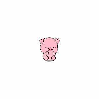 Cute piggy cartoon icon