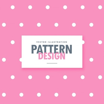 Cute pink background with white dots