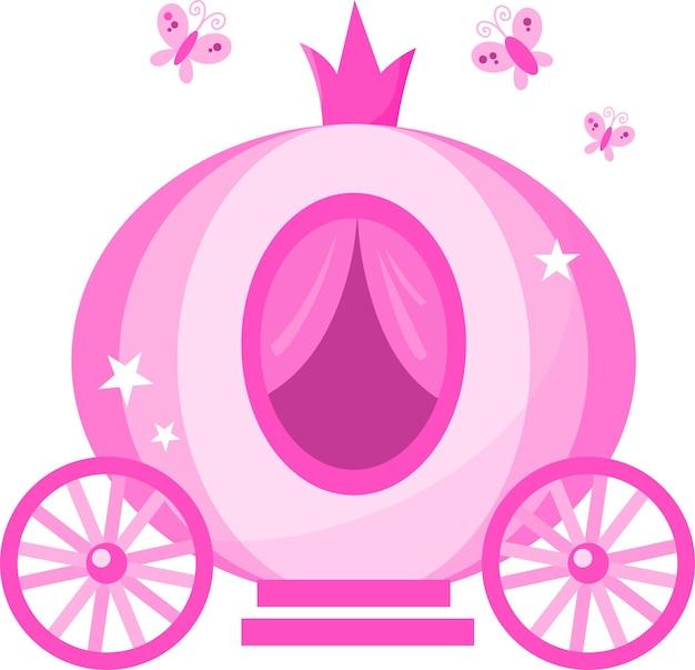 귀여운 핑크 마차