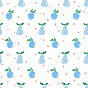 귀여운 핑크 과일과 베리 일러스트 모티브 원활한 반복 패턴 디지털 파일 작품