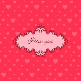 Cute pink love you card