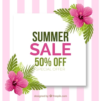 Cute pink summer sale background
