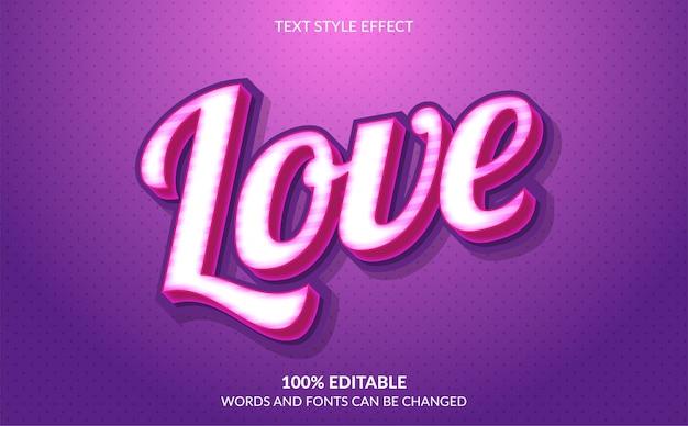 Симпатичный розовый эффект стиля текста