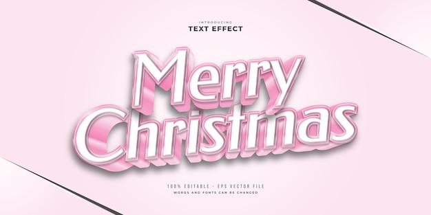 3d 효과가 있는 귀여운 핑크색 텍스트 스타일. 편집 가능한 텍스트 스타일 효과