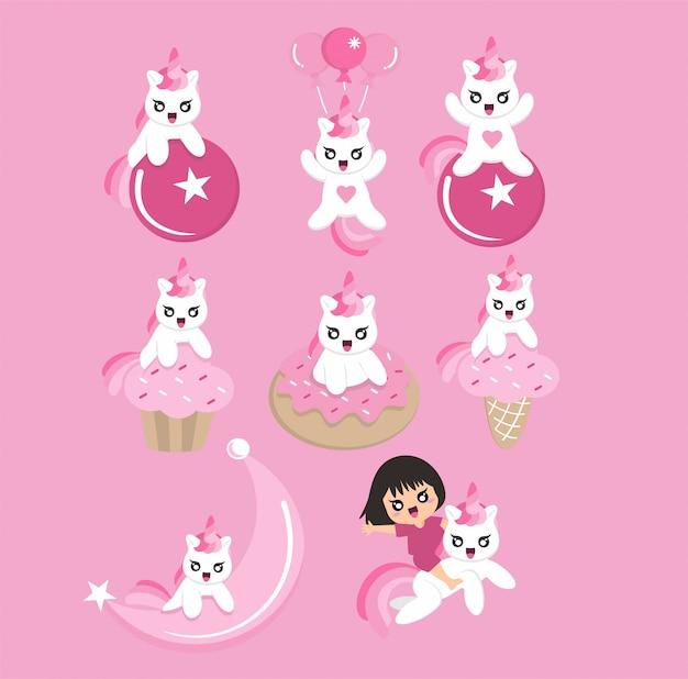 Cute pinky unicorn pack