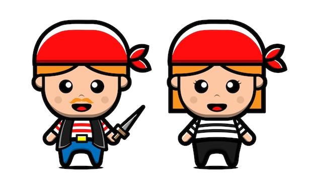 Cute pirate character