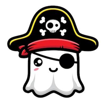 귀여운 해적 유령 캐릭터 디자인