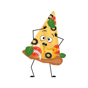 Cute pizza character