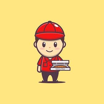 Доставка милой пиццы