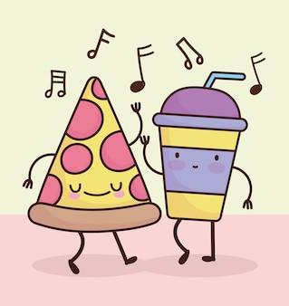Симпатичная пицца с содовой