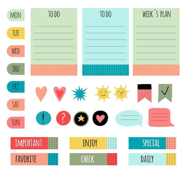 Набор альбомов для вырезок милый планировщик