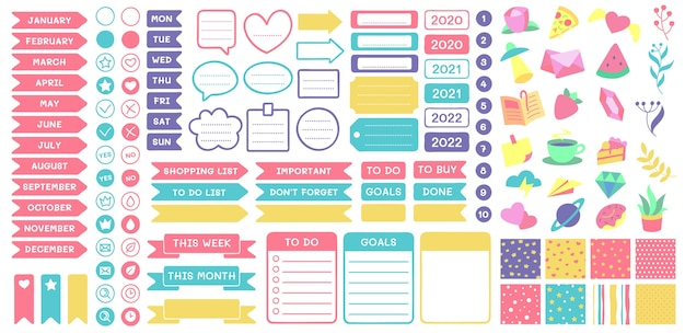 Cute planner stickers.