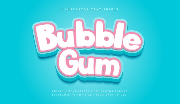 Cute playful candy text style font effect