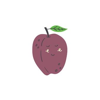 Cute plum fruit