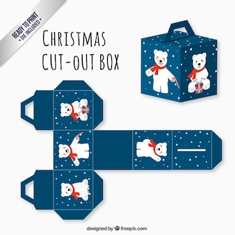 Cute polar bear package Premium Vector