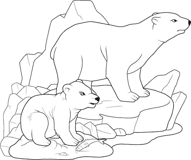 Милый полярный медведь
