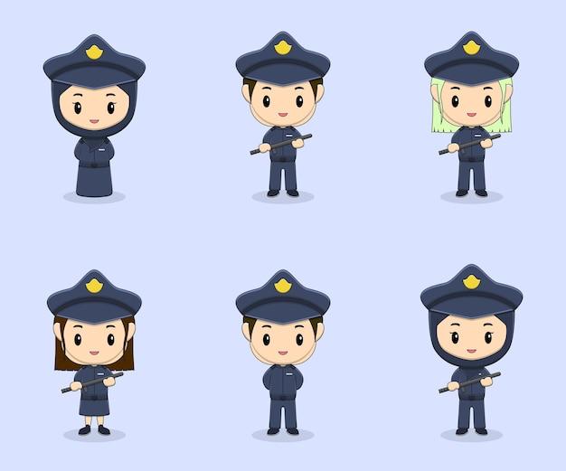 かわいい警察のデザインコレクション