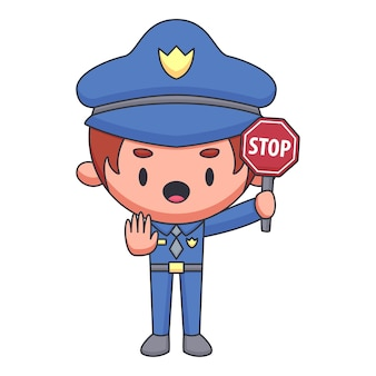 귀여운 경찰관 만화 캐릭터
