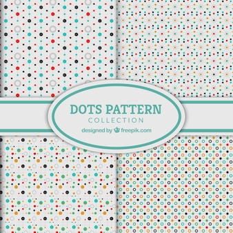 Cute polka dot patterns and lines