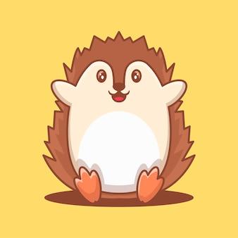 Cute porcupine cartoon vector illustration. world animal day concept