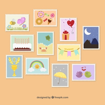 Симпатичные почтовые марки