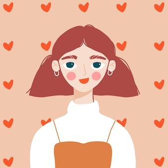귀여운 엽서, 배너, 발렌타인 데이 포스터