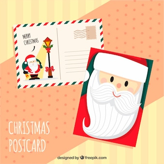 Симпатичные открытки санта-клауса