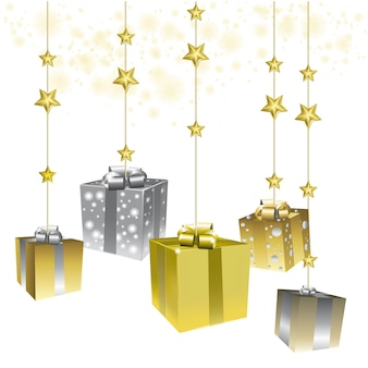 Cute presents with stars