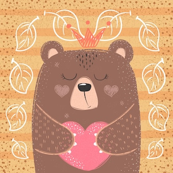 Cute princess bear