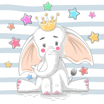 Cute princess elephant