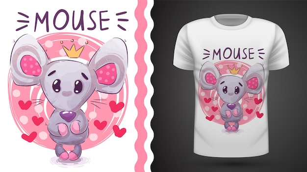 Cute princess mouse