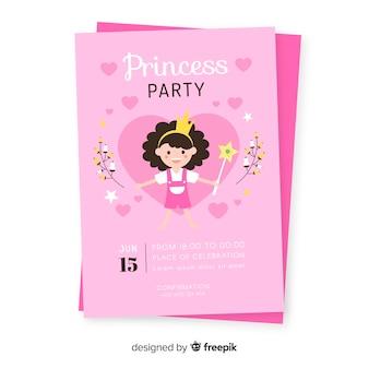Cute princess party invitation