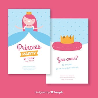 Cute princess party invitation