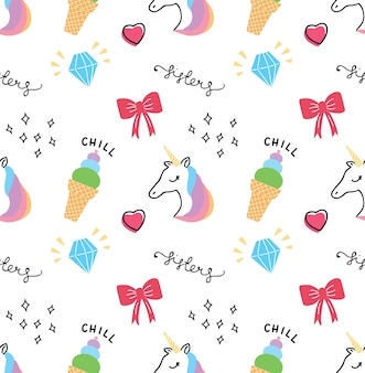Cute print and pattern design