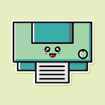 귀여운 프린터 만화 디자인