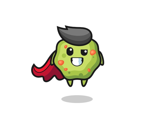 The cute puke character as a flying superhero , cute style design for t shirt, sticker, logo element
