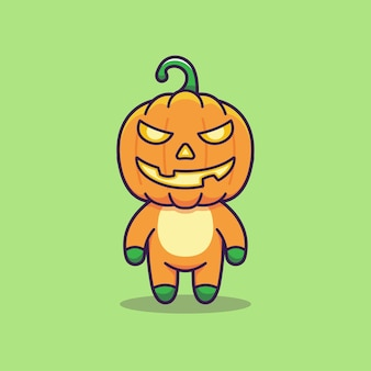 Cute pumpkin monster