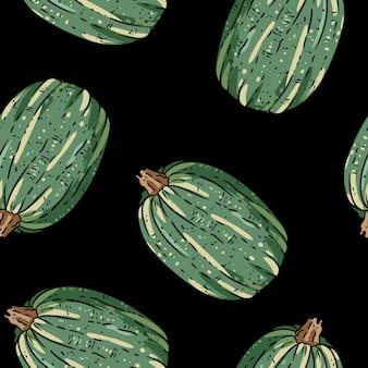 Cute pumpkins cartoon seamless pattern.