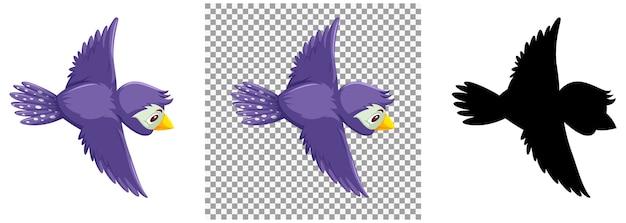 かわいい紫鳥の漫画のキャラクター