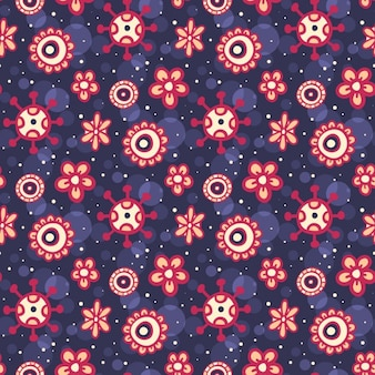 Cute purple floral pattern