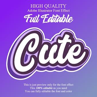Cute purple script editable  font effect