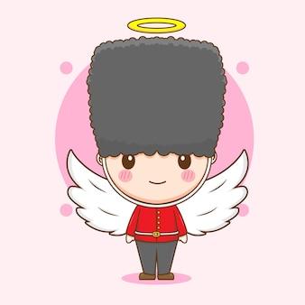 天使としてのかわいいクイーンガードキャラクター