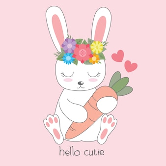 Cute rabbit card