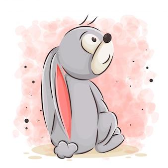 Милый кролик мультфильм иллюстрации