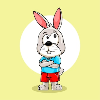 Милый кролик иллюстрации шаржа