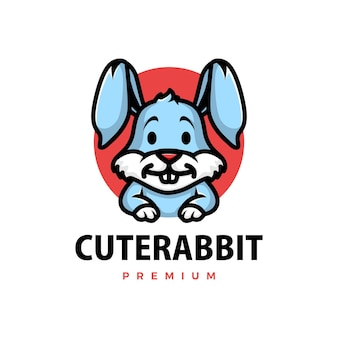 Милый кролик мультфильм логотип
