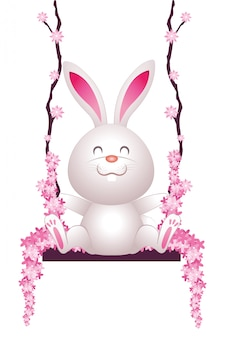 Cute rabbit cartoon