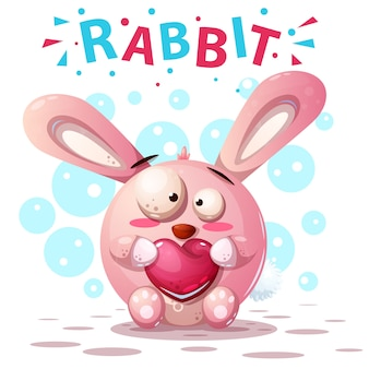 Cute rabbit characters